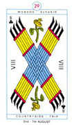Eight of Clubs Tarot card in Cagliostro Tarot deck