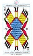Ten of Clubs Tarot card in Cagliostro Tarot deck