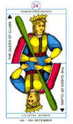 Queen of Clubs Tarot card in Cagliostro Tarot deck