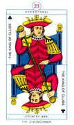 King of Clubs Tarot card in Cagliostro Tarot deck