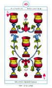 Five of Hearts Tarot card in Cagliostro Tarot deck