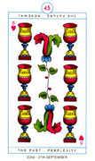 Six of Hearts Tarot card in Cagliostro Tarot deck