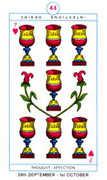 Seven of Hearts Tarot card in Cagliostro Tarot deck