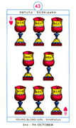 Eight of Hearts Tarot card in Cagliostro Tarot deck