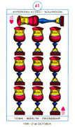 Ten of Hearts Tarot card in Cagliostro Tarot deck