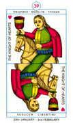 Knight of Hearts Tarot card in Cagliostro Tarot deck