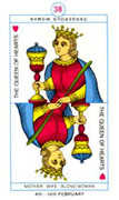 Queen of Hearts Tarot card in Cagliostro Tarot deck