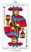 King of Hearts Tarot card in Cagliostro Tarot deck