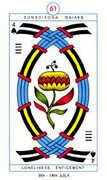 Four of Spades Tarot card in Cagliostro Tarot deck