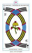 Six of Spades Tarot card in Cagliostro Tarot deck