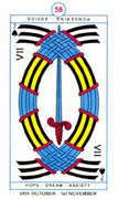 Seven of Spades Tarot card in Cagliostro Tarot deck