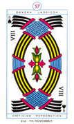 Eight of Spades Tarot card in Cagliostro Tarot deck