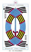 Nine of Spades Tarot card in Cagliostro Tarot deck