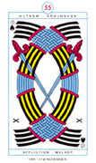 Ten of Spades Tarot card in Cagliostro Tarot deck