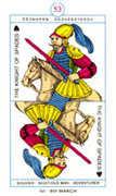 Knight of Spades Tarot card in Cagliostro Tarot deck