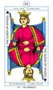 Queen of Spades Tarot card in Cagliostro Tarot deck