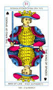 King of Spades Tarot card in Cagliostro Tarot deck