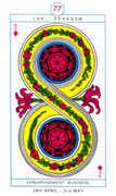 Two of Diamonds Tarot card in Cagliostro Tarot deck