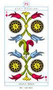 Four of Diamonds Tarot card in Cagliostro Tarot deck