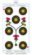 Seven of Diamonds Tarot card in Cagliostro Tarot deck