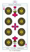 Eight of Diamonds Tarot card in Cagliostro Tarot deck