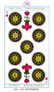 Nine of Diamonds Tarot card in Cagliostro Tarot deck