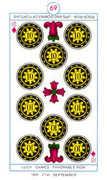 Ten of Diamonds Tarot card in Cagliostro Tarot deck