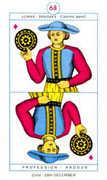 Page of Diamonds Tarot card in Cagliostro Tarot deck