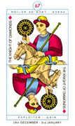 Knight of Diamonds Tarot card in Cagliostro Tarot deck