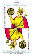 Queen of Diamonds Tarot card in Cagliostro Tarot deck