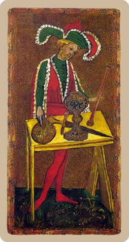 The Magician Tarot Card - Cary-Yale Visconti Tarocchi Tarot Deck
