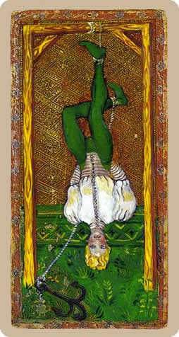 The Hanged Man Tarot Card - Cary-Yale Visconti Tarocchi Tarot Deck