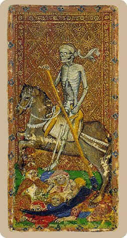 Death Tarot Card - Cary-Yale Visconti Tarocchi Tarot Deck