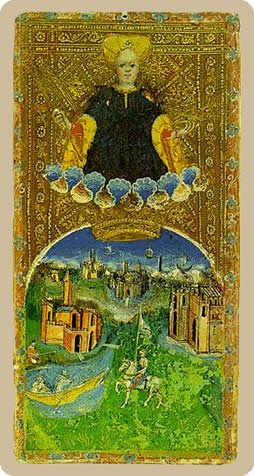 The World Tarot Card - Cary-Yale Visconti Tarocchi Tarot Deck