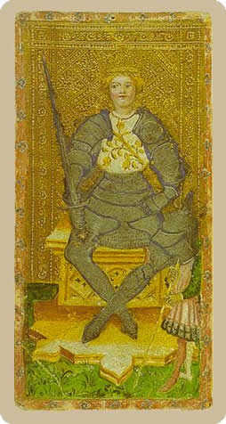 King of Bats Tarot Card - Cary-Yale Visconti Tarocchi Tarot Deck