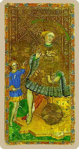 King of Coins Tarot Card - Cary-Yale Visconti Tarocchi Tarot Deck