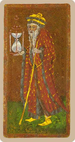The Hermit Tarot Card - Cary-Yale Visconti Tarocchi Tarot Deck