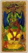 The Devil Tarot card in Cary-Yale Visconti Tarocchi Tarot deck
