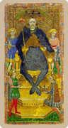 The Emperor Tarot card in Cary-Yale Visconti Tarocchi Tarot deck