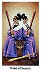 cat-people - Three of Swords