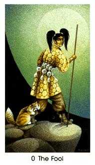The Foolish Man Tarot Card - Cat People Tarot Deck
