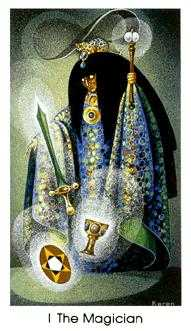 The Magus Tarot Card - Cat People Tarot Deck