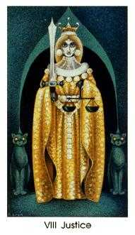 Justice Tarot Card - Cat People Tarot Deck