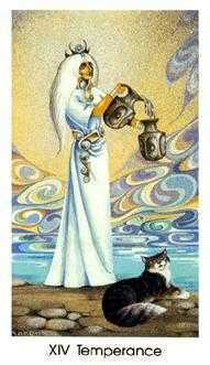 Temperance Tarot Card - Cat People Tarot Deck