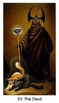 The Devil Tarot Card - Cat People Tarot Deck