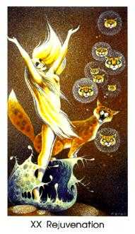 Aeon Tarot Card - Cat People Tarot Deck