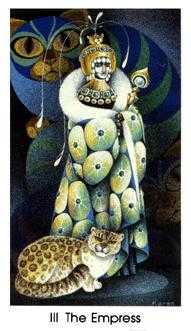The Empress Tarot Card - Cat People Tarot Deck