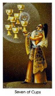 Seven of Cups Tarot Card - Cat People Tarot Deck