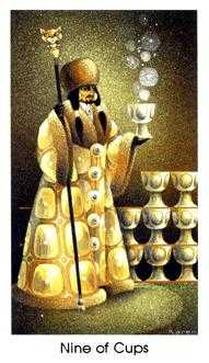 Nine of Cauldrons Tarot Card - Cat People Tarot Deck