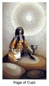 Page of Hearts Tarot Card - Cat People Tarot Deck